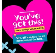 Nando's - 50% off for All NHS Workers