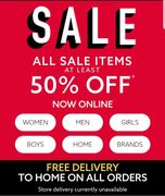 NEXT Online Sale At Least 50% Off With FREE Home Delivery On ALL Orders