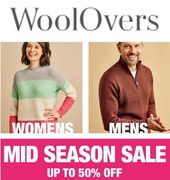WOOLOVERS SALE - up to 50% off Jumpers, Sweaters & Cardigans
