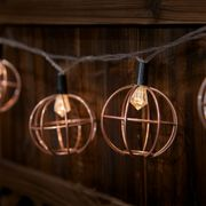 Firefly: Metal Ball Solar String Lights