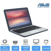 "ASUS Chromebook C202SA 11.6"" Light Weight Laptop Intel Dual Core N3060 16GB eMMC"