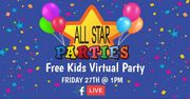 Free Kids Virtual Party (LIVE)
