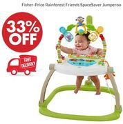 Fisher-Price Rainforest Friends SpaceSaver Jumperoo - FREE DELIVERY TOO