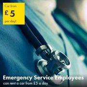 EUROPCAR Rentals Offering NHS Workers Car Hire for £5 a Day Min 2 Days