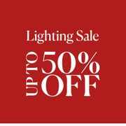 Up to 50% off Selected Lighting