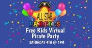 Free Kids Virtual Pirate Party (LIVE)