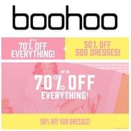 BOOHOO - 50% off 500 Dresses