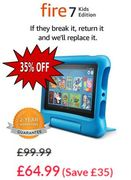 SAVE £35! Amazon All-New Fire 7 Kids Edition Tablet - BLUE or PURPLE
