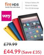 SAVE £35 - Amazon All-New Amazon Fire HD 8 Tablet, 16GB (BLACK or BLUE)