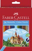 Faber-Castell 36-Colour Eco-Pencils & free sharpener - Free Delivery