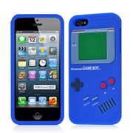 Best Price! iPhone 5 Retro Game Boy Design Dark Blue Silicone Case Cover