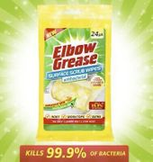 24x Anti-Bacterial Elbow Grease Wipes