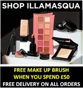 Special Offer-Illamasqua FREE MAKE UP BRUSH WITH ORDER + FREE DELIVERY