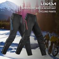 Lixada Men's Cycling Pants Thermal Fleece Windproof Winter Bike Pants Trousers