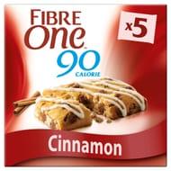 Fibre One 90 Calorie Cinnamon Drizzle Squares 5X24g