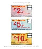 Money off Vouchers for Farmfoods