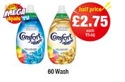Cheap Comfort Intense Fabric Conditioner Fresh Sky, 60 Wash - Only £2.75!