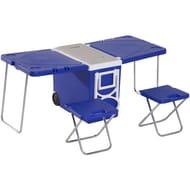 Cooler Box Folding Table Chair Set Garden Picnic Lunch Bag Freezer Outdoor 28L