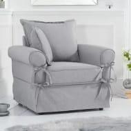 Clement Grey Linen Armchair