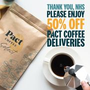 Special Offer - 50% off First 5 Pact Coffee Deliveries for NHS Staff