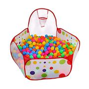 CHEAP! Play Tent Playpen Ball Pit Pool with Basketball Hoop Zippered Storage Bag