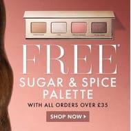 Free Iconic London Sugar & Spice Palette WYS £35