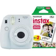 CHEAP! Fujifilm Instax Mini 9 Instant Camera including 30 Shots - Smoky White