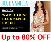 BLUE VANILLA Warehouse Clearance Event - Huge Savings on Dresses, Tops, & More