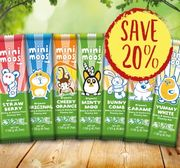 Save 20% on Mini Moos Dairy Free Chocolate Bars Selection,7 Flavours