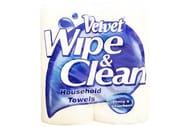 Velvet - Wipe & Clean Kitchen Roll - 2 X 75 Sheets