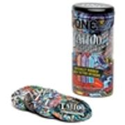 ONE Tattoo Touch Ribbed Condoms (12 Pack)- 40% Off