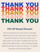 25% off Paperchase Heroes Discount