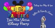 Free Kids Virtual Disney Party (LIVE)
