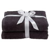Argos Home Pair of Bath Towels - Black