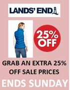 GRAB an EXTRA 25% off SALE with CODE at LAND'S END - Ends Sunday 3rd May!