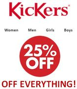 KICKERS - 25% off ALMOST EVERYTHING (With Code)