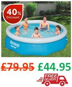 Best Price! Bestway 10ft Fast Set Swimming Pool - FREE DELIVERY