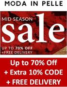 Special Offer - MODA IN PELLE SHOES & SANDALS: 70% off + 10% off + FREE DELIVERY