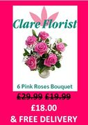 Clare Florist - Free Delivery on Flowers + EXTRA 10% OFF