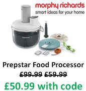 HOT DEAL! Morphy Richards Prepstar Food Processor £50.99 + FREE DELIVERY!