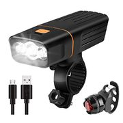 Fretrecy Bike Lights Set, Super Bright USB Rechargeable Bicycle