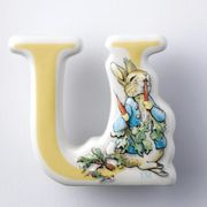China Letter U Peter Rabbit