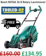 Cheap Bosch Lawnmower. Bosch ROTAK 36R Rotary Lawnmower + FREE DELIVERY
