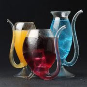 Resistant Glass Cup with Straw