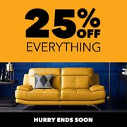 Special Offer 25% off at Harveys Furniture