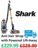 SAVE £100 - Shark Anti Hair Wrap Vacuum Cleaner, Powered Lift-Away NZ801UK