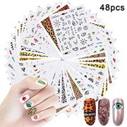 48 Sheets Water Transfer Nail Art Stickers Decals at Amazon