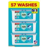 Fairy Non Bio Pods Washing Liquid Capsules 57 Washes