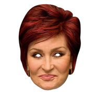 Sharon Osbourne Cardboard Face Mask +++ Many Others Available