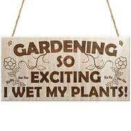 I Wet My Plants! Garden Sign